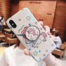 Cute unicorn phone case N. 8 for iPhone with a ring