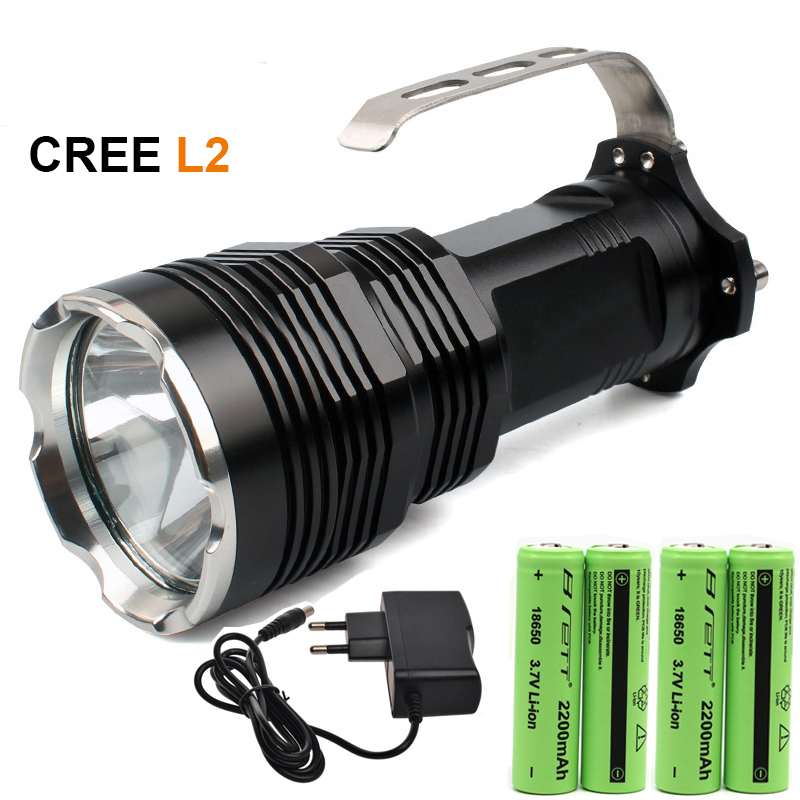 High quality Portable LED flashlight hand light CREE XM-L2 White /T6 yellow 1200LM hunting tactical searchlight flashlight