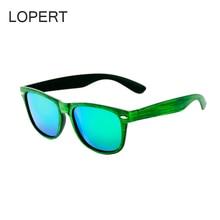 LOPERT Brand Designer Fashion Retro Unisex Square Mens Women Polarized Sunglasses Mirror Sun Glasses Driving Eyewears For Men
