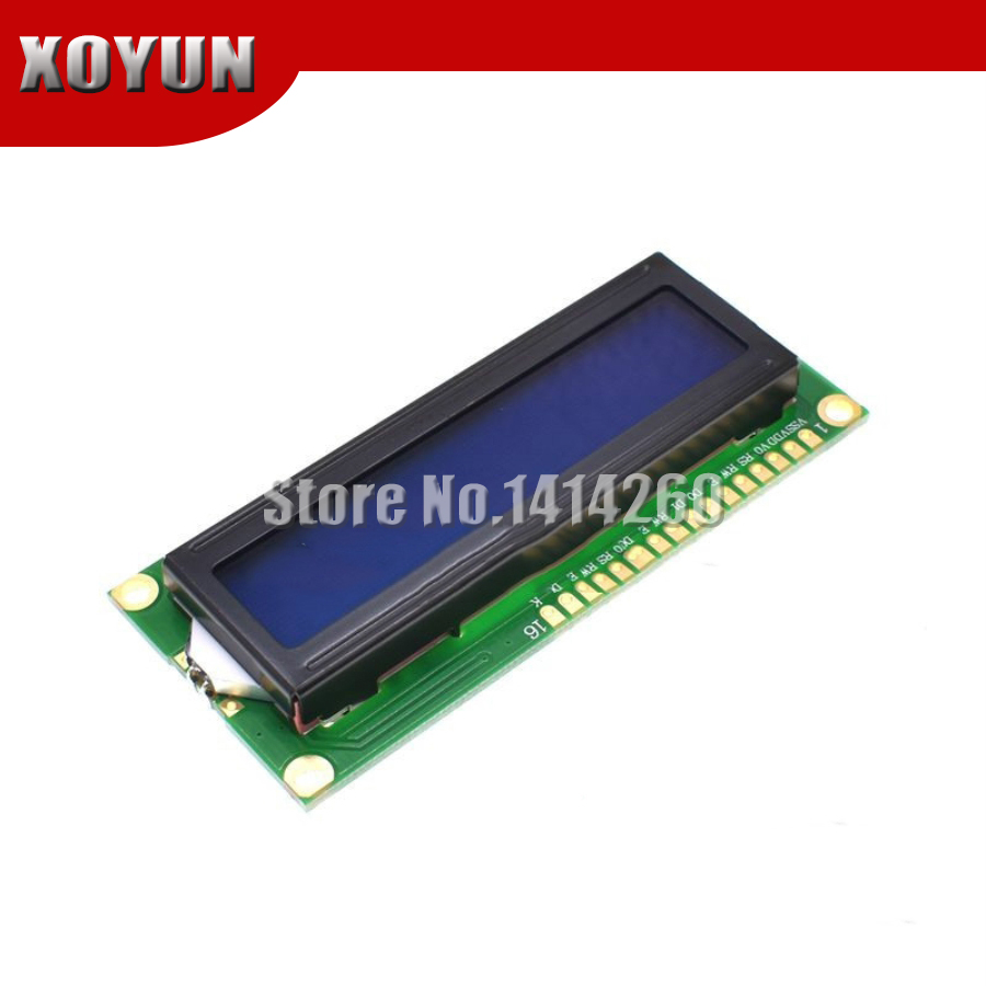 Blue Screen 1602 1602A Blue LCD 16x2 LCD 5V White Font With Backlight LCD1602