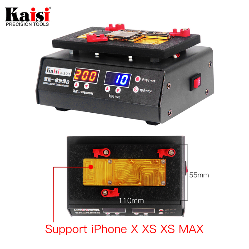 Kaisi 200 Degrees Rapid Separation Disassembly Platform For iPhone X XS MAX Motherboard Stratified temperature Heating