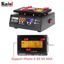 Kaisi 200 градусов быстрая разделительная разборка платформа для iPhone X XS MAX материнская плата стратифицированный температурный нагревательный стол