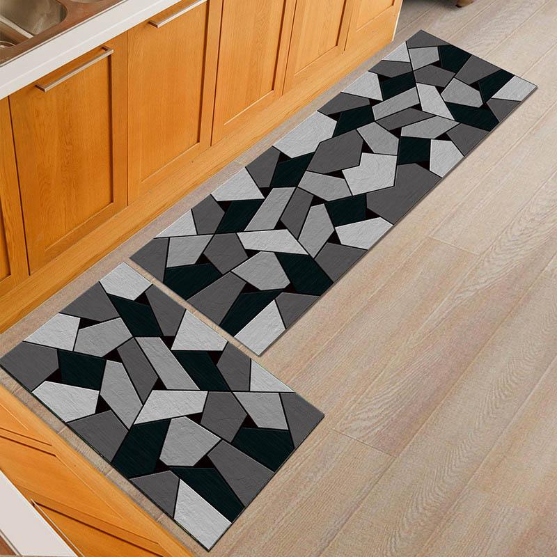 Image 2 - Non slip Popular Machine Washable Durable Entrance Door Mat Bathroom Carpet Home Designer Kitchen Mats Decorative Bedroom Rugs-in Mat from Home & Garden