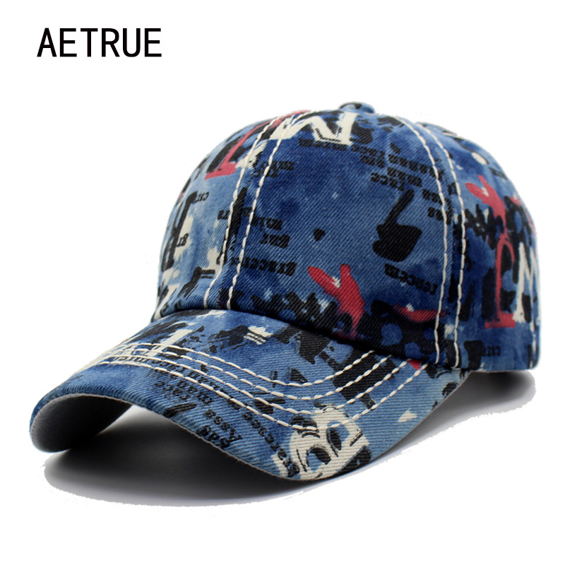 AETRUE Baseball Cap Snapback Caps Hats For Men Women Casquette Jean Bone Denim Gorras Female Male Brand Baseball Hat Cap 2018 aetrue winter knitted hat beanie men scarf skullies beanies winter hats for women men caps gorras bonnet mask brand hats 2018