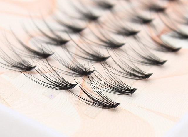 66009e5bb35 1boxes Volume 20D Eyelash Extensions 0.07mm Thickness Hair Mink Strip  Eyelashes Individual Lashes Fans Lash