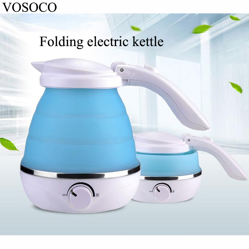 VOSOCO Folding electric kettle mini folding travel electric kettle pucker thermos portable thermal insulation 0.5L 680W 110V/220 new arrival portable travel abroad electric kettle 0 5l mini electric kettle wst 0903 european travel kettle 110 240v 550 650w