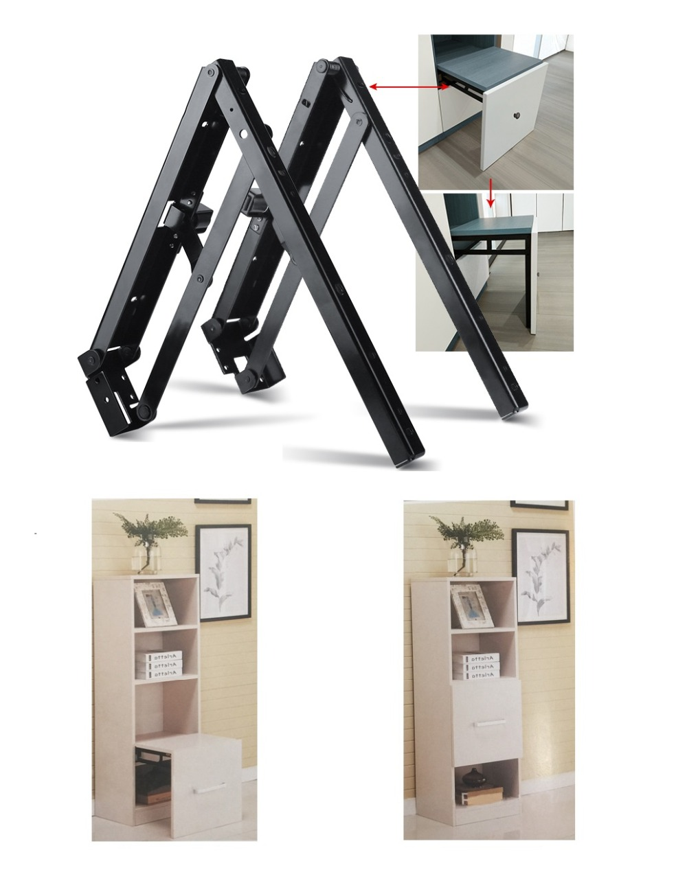 Gentle 2pcs Wall Mounted Folding Table Shelf Support Bracket Spring Pair Thicken 304 Stainless Steel Table Bracket Atv,rv,boat & Other Vehicle Automobiles & Motorcycles