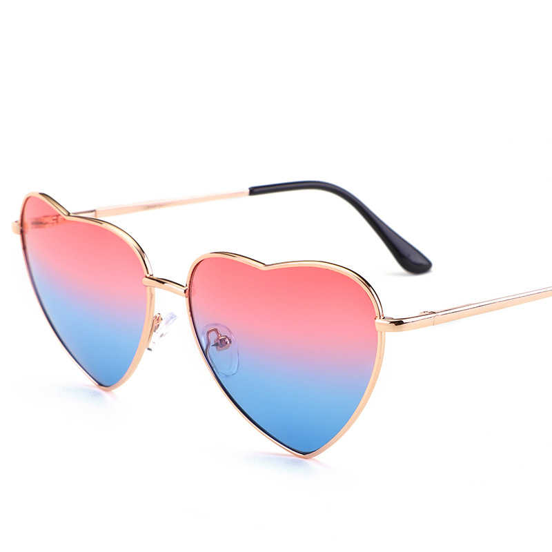 4a2a2c52c579 ... DIGUYAO Women Metal Multicolour Metal Frame Sunglasses Brand Designer  Coating Fashion Sun Glasses Heart Shaped Sunglasses ...