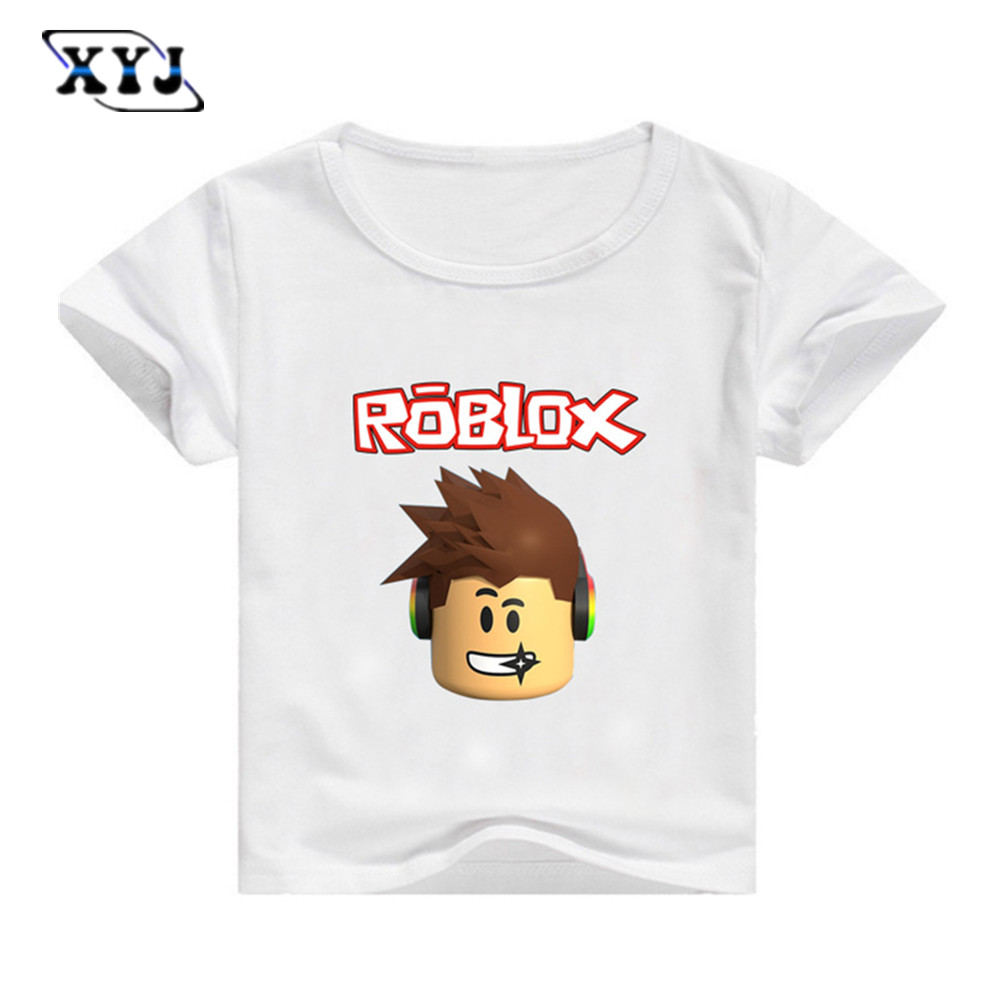 White t shirt day - 2017 Summer T Shirt For Kids Roblox Shirt Red Nose Day Costume White Tees Children