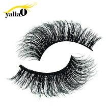 YALIAO 100% 3D Mink Eyelashes Natural Long Handmade Thick Fake Eyelash Party Wedding Eyes Makeup Extension