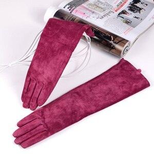 Image 5 - Mujer ante Real Party Long Evening guantes Ópera/guantes largos en diez colores