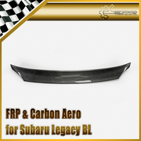 Car Styling For 05 08 Legacy (BL) JDM Style Carbon Fiber Duckbill Spoiler Glossy Fibre Rear Trunk Wing Auto Body Kit Racing Trim