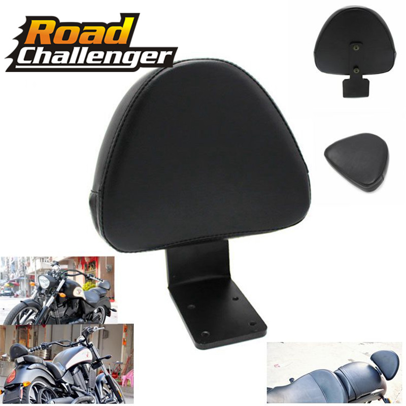 Motorcycle Rear Backrest Seat Sissy Bar Leather Driver Backrest Pad  For Victory High-Ball Vegas Kingpin 8 Ball Jackpot