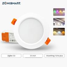 ZigBee 3.0 Downlight kiti akıllı RGBW 3.5 inç LED gömme tavan ışığı 12W çalışma ile Smartthings Echo plus akıllı aydınlatma