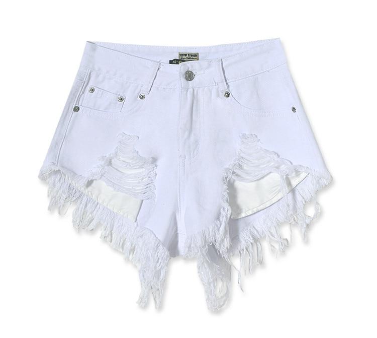 white jean shorts for women