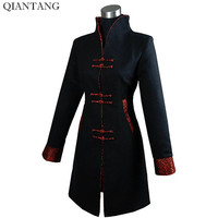 Black Winter Outerwear Women S Cashmere Jacket Long Coat Size S M L XL XXL XXXL
