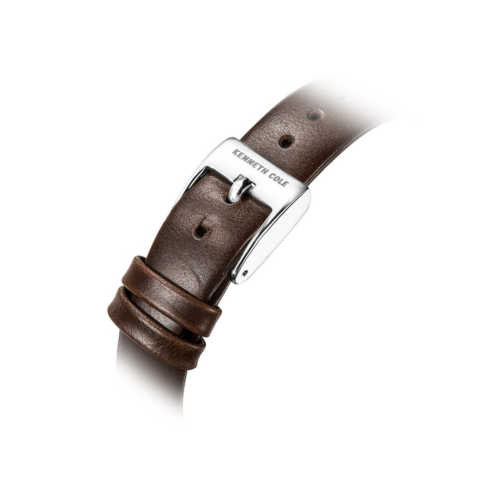 Kenneth Cole Oryginalne damskie zegarki Kwarcowe kwadratowe brązowe - Zegarki damskie - Zdjęcie 5