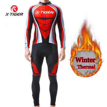 X-TIGER Winter Cycling Jersey Thermal Fleece Cycling Clothing Long Sleeve Cycling Set Men MTB Road Bike Clothes Ropa Ciclismo - DISCOUNT ITEM  45% OFF Sports & Entertainment
