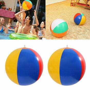23 30 36cm nadmuchiwana piłka plażowa pcv balony na wodę Rainbow-Color kulki lato na zewnątrz plaża pływanie pływający w basenie kółka do pływania tanie i dobre opinie Dziecko Beach Ball Environmental PVC OPP bag Above 3+ Wholesale Dropshiping