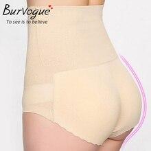 Burvogue shapers Girl Slimming Sexy High Waist Padded Butt Lift Shaper Seamless body control panties Underwear Free Shipping
