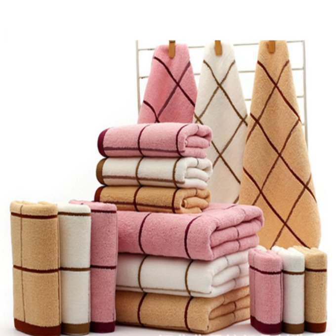 brown and red decorative bath towels plaid font cotton terry blue decorative bath towels