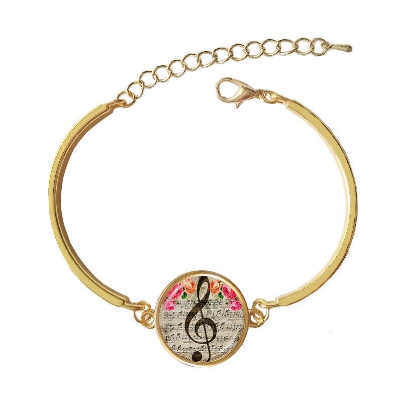 CAB15 für kim Armband Musik Hinweis Armreif Glas Cabochon Dome Charme für frauen und mann geschenk