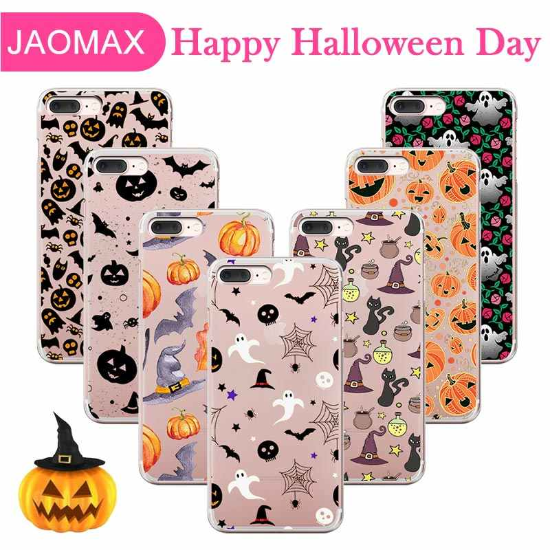 Jaomax Skull Pumpkin Boo Spooky Halloween Phone Case For iPhone 6 X 6SP 8 Case halloween iPhone Case For iPhone 7 XS MAX Covers