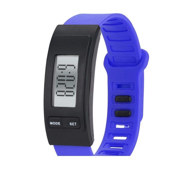 A CRISTALLI LIQUIDI Digital Del Silicone Wirstband Pedometro Run Passo Walking Distanza Calorie Counter Polso Delle Donne e Degli Uomini della Vigilanza di Sport Fitness pt3