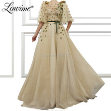 Lowime 2019 Arabic Crystals Evening Dress Prom Dresses