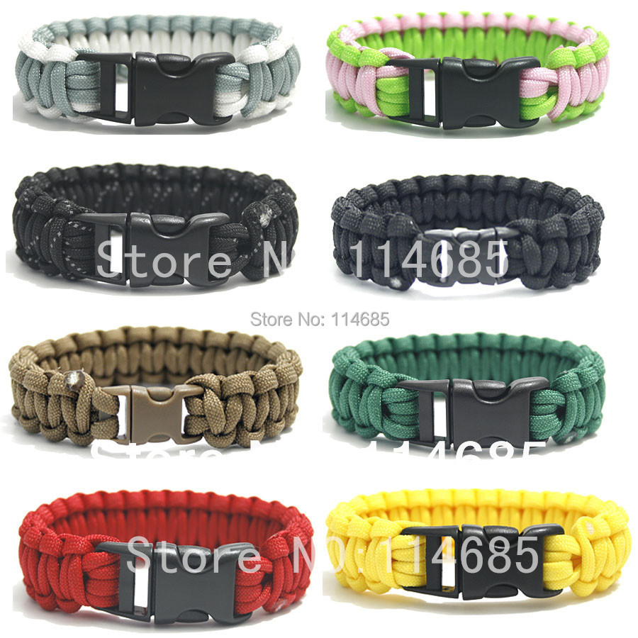 Free Shipping Whole Best Price 550 Whistle Paracord Survival Bracelet Buckle Rescue Kits 100colors In From Sports Entertainment On