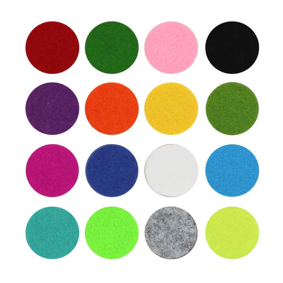 รูปแบบใหม่20ชิ้น/ล็อตที่มีสีสันน้ำมันหอมระเหยรู้สึกแผ่น22.5มิลลิเมตรเหมาะสำหรับ30มิลลิเมตรกระจายน้ำมันหอมระเหยน้ำหอมล็อกเกตลอยล็อกเกต