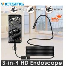 VicTsing 10m 7mm אנדוסקופ מצלמה Wifi אנדרואיד סוג C USB Borescope HD 6 LED נחש עבור mac OS Windows רכב תיקון כלים