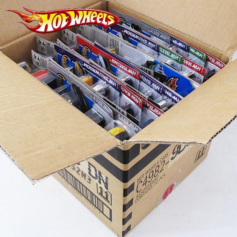 72 pcs/boîte Hot Wheels Moulé Sous Pression En Métal Mini Modèle Brinquedos Hotwheels Jouet Voiture Enfants Jouets Pour Enfants D'anniversaire 1:43 Cadeau