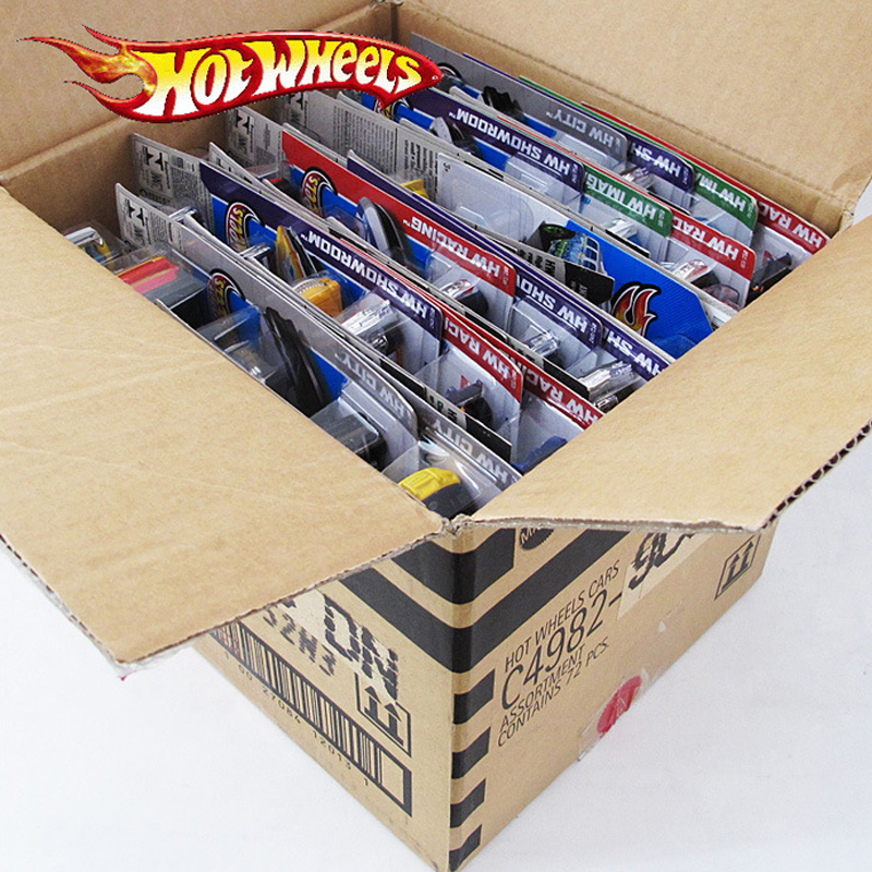 все цены на 72pcs/box Hot Wheels Diecast Metal Mini Model Brinquedos Hotwheels Toy Car Kids Toys For Children Birthday 1:43 Gift онлайн