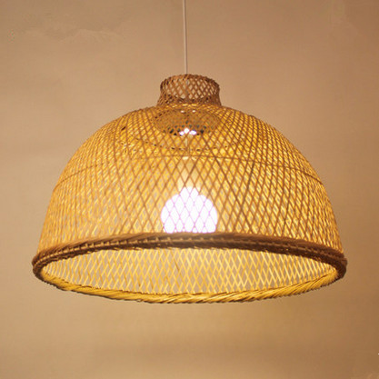 Modern rustic hand knitting bamboo Pendant Lights Southeast Asia style minimalist E27 LED lamp for porch&parlor&stairs LHDD015 chinese rustic handwoven bamboo pendant lights southeast asia style brief round e27 led lamp for porch