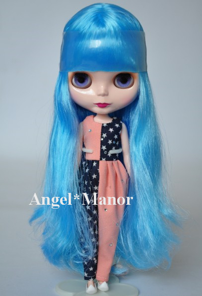 Nude Blyth Doll, blue4 long hair, big eye doll,Fashion doll Suitable For DIY Change BJD , For Girl's Gift,PL004 free shipping nude blyth doll brown gold hair big eye doll fashion doll suitable for diy change bjd for girl s gift