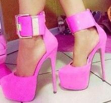 BC Schuhe mode frauen rosa mary janes high heel thin heel platform-partei-schuhe