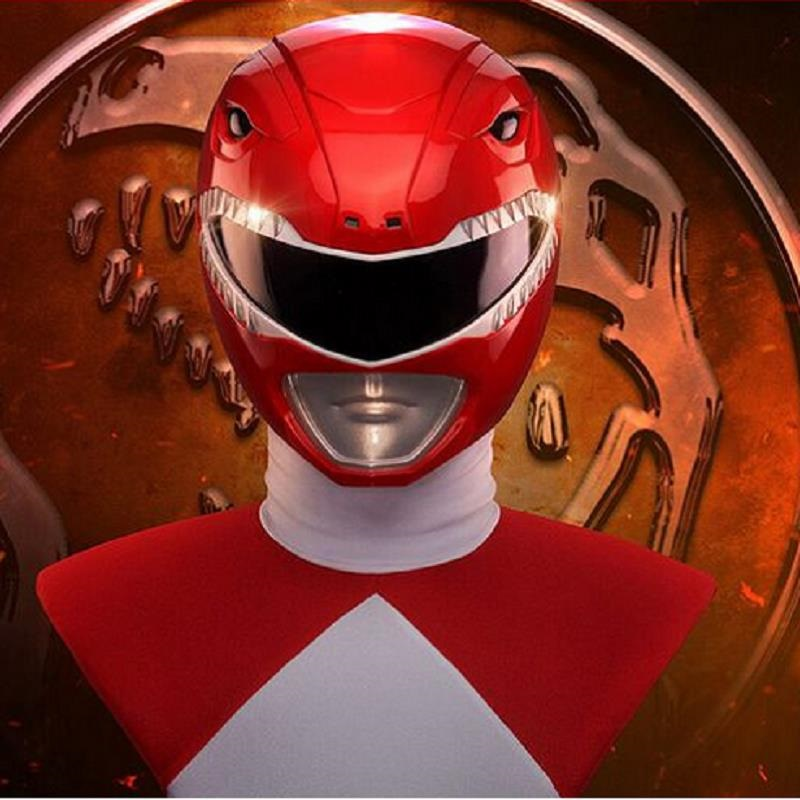 Zyuranger Ranger Cosplay Helmet Mask Cosplay Costume Accessory Superhero Cosplay Props Red Helmet PVC Classic Halloween Adult cosplay red