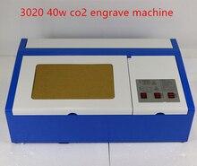 Envío libre 3020 40 w co2 máquina de grabado láser grabador láser de corte máquina de hacer sello de goma grande área de trabajo de energía 30*20