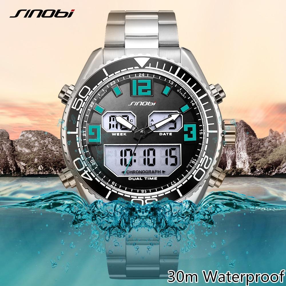 SINOBI Digital Watch Led-Clock Shock Rolexable Sports Military Top-Brand Mens Relogio