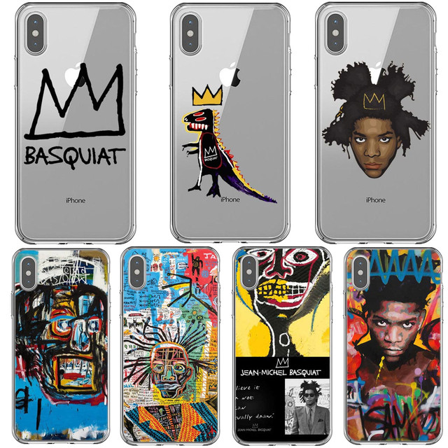 New York Artist Jean Michel Basquiat Soft silicone Phone Cases for iPhone 5S SE 6 6S Plus 7 7 Plus X XS MAX XR XS 8 8Plus Cover