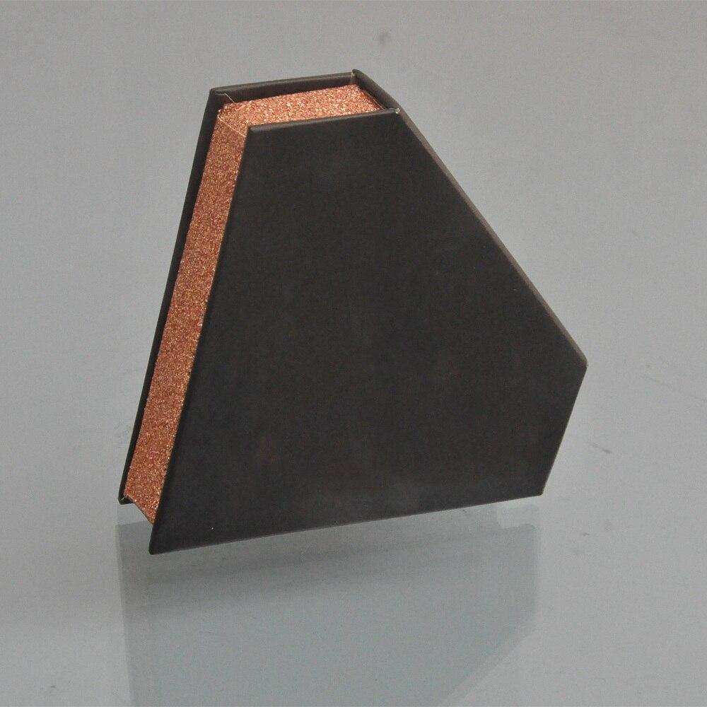 logotipo falso mink lash tira praça magnetic caso de embalagem vazio