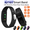 Smartband ID107 Bluetooth Smart Band Bracelet Heart Rate Monitor Fitness Tracker Wristband Watch for IOS Android Phone Free DHL
