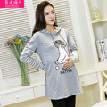 New Autumn Long Sleeve Maternity Tops Casual Cotton Pregnancy Clothes Nursing Clothes for Pregnant Women Breastfeeding Clothes