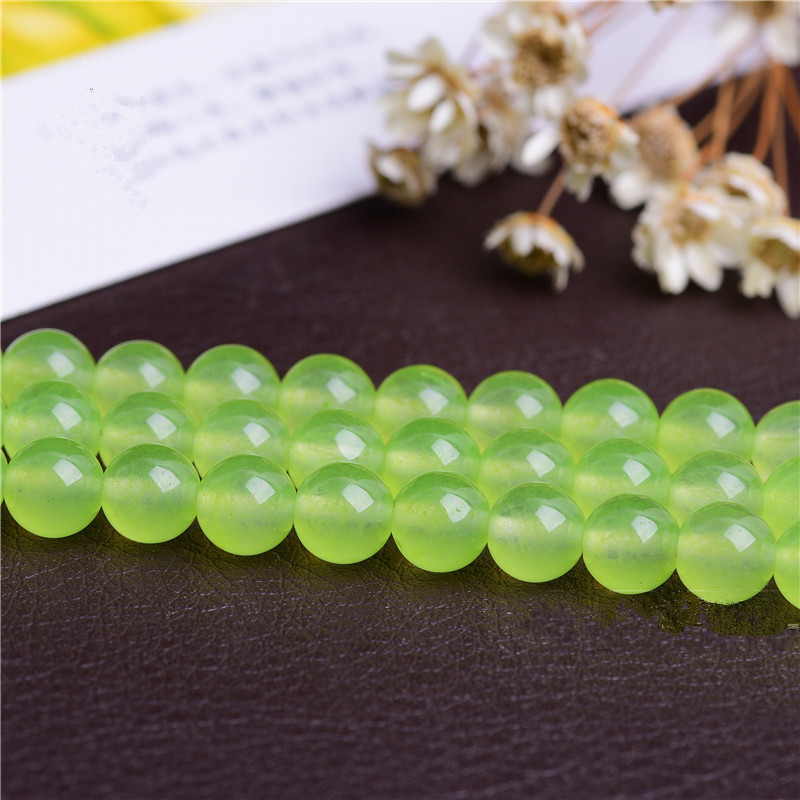 Beads & Jewelry Making Jewelry & Accessories Able Rongqing 1pack Grape Chalcedony Semi-finished Products Grape Color Loose Beads For Handmade Jewelry Accessories To Prevent And Cure Diseases