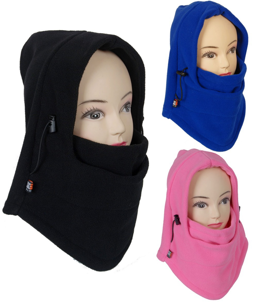 Cold Weather Face Mask Cover Winter Multiuse Outdoor Ski Motorcycle Hood  Neck Warmer Men Women Unisex Black Blue Pink 1aa4e534a75