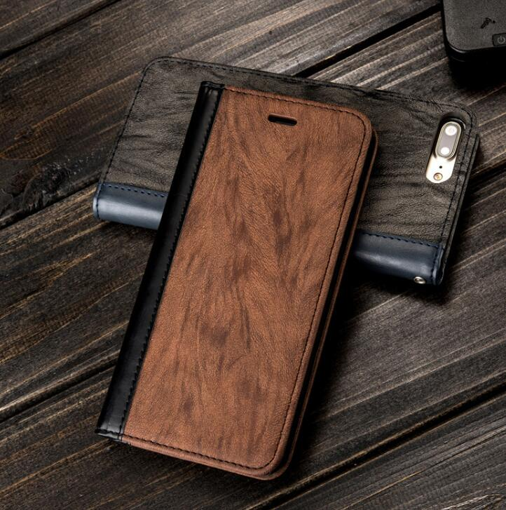 Vintage matte leather case For Iphone 6 6S 7 8 Plus X Wallet Card Phone Case For Samsung S8 Plus