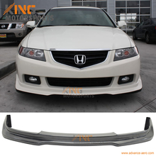 For 2004 2005 Acura TSX P1 Style Front Bumper Lip - Unpainted Poly Urethane