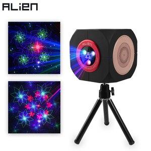 Image 1 - ALIEN RGB Oplaadbare Draadloze Bluetooth Speaker Laser Projector Podiumverlichting Effect Voor Party Outdoor DJ Disco Vakantie Xmas