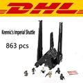 2017 Nueva LEPIN 05049 863 Unids Star Wars Imperial Shuttle de Krennic Kits de Edificio Modelo Bloques Ladrillos Compatibles Juguete de Los Niños 75156